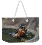 Bird Bath Fun Time Weekender Tote Bag