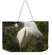 Bird Mating Display - Snowy Egret  Weekender Tote Bag