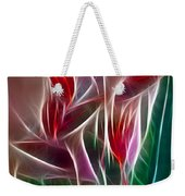 Bird Of Paradise Fractal Panel 2 Weekender Tote Bag