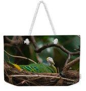 Bird On Nest Weekender Tote Bag