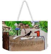 Bird On The Mailbox Sketchbook Project Down My Street Weekender Tote Bag