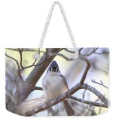 Bird - Tufted Titmouse - Busted Weekender Tote Bag