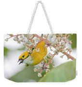 Bird With Berry Weekender Tote Bag