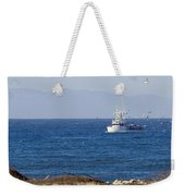 Birds Flying Over A Commercial Fishing Weekender Tote Bag