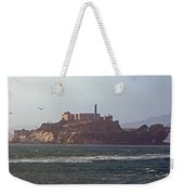 Birds In Free Flight At Alcatraz Weekender Tote Bag