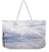 Birds On A Wire Pushed Weekender Tote Bag