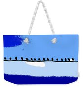 Birds On Wire Weekender Tote Bag