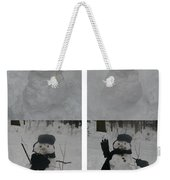 Birth Of A Snowman Weekender Tote Bag