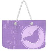 Birthday Girl Greeting Card - Mourning Cloak Butterfly Weekender Tote Bag
