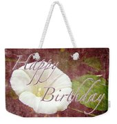 Birthday Greeting Card - Bindweed Morning Glory Weekender Tote Bag