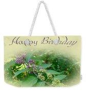 Birthday Greeting Card - American Beautyberry Shrub Weekender Tote Bag