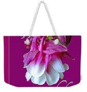 Birthday Greeting Card - Columbine Flower Weekender Tote Bag