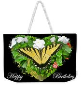 Birthday Greeting Card - Tiger Swallowtail Butterfly Weekender Tote Bag