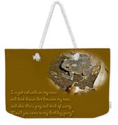 Birthday Party Invitation - Common Toad - Child Weekender Tote Bag