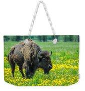 Bison And Friend Weekender Tote Bag