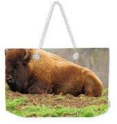 Bison At Rest Weekender Tote Bag