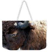 Bison Bison Up Close Weekender Tote Bag