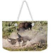 Bison Dust Bath Weekender Tote Bag