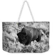 Bison In Black And White Weekender Tote Bag