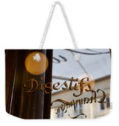 Bistro Sign For Digestives Weekender Tote Bag