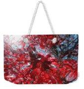 Black And Red Crescendo Weekender Tote Bag