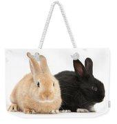Black And Sandy Rabbits Weekender Tote Bag