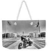 Black And White - Pgr At Houston National Cemetery Weekender Tote Bag