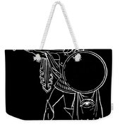 Black And White Ancient Greek Warrior Weekender Tote Bag