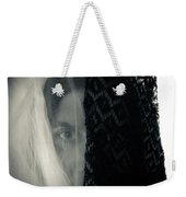 Black And White And Grey Weekender Tote Bag