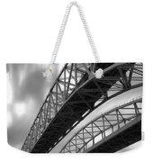 Black And White Blue Water Bridge Weekender Tote Bag