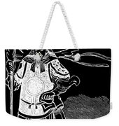 Black And White Chinese Warrior Weekender Tote Bag