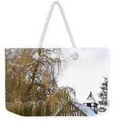 Black And White Church  Melverley Weekender Tote Bag