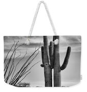 Black And White Couple Weekender Tote Bag