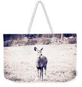 Black And White Deer Weekender Tote Bag