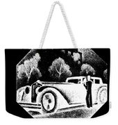 Black And White French Car Weekender Tote Bag