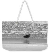 Black And White Gull Weekender Tote Bag
