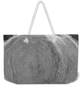 Black And White Hay Ball Weekender Tote Bag