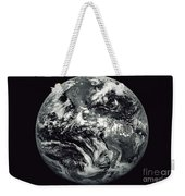 Black And White Image Of Earth Weekender Tote Bag