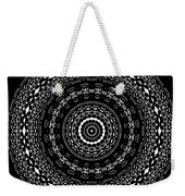 Black And White Mandala No. 4 Weekender Tote Bag