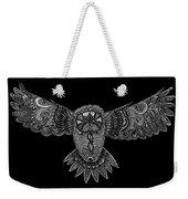Black And White Owl Weekender Tote Bag