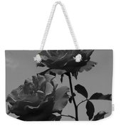 Black And White Roses Weekender Tote Bag