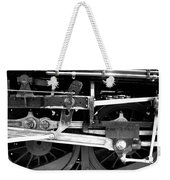 Black And White Steam Engine - Greeting Card Weekender Tote Bag