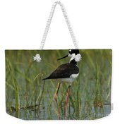 Black And White Stilt Weekender Tote Bag