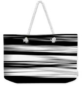 Black And White Striped Wave Pattern Weekender Tote Bag