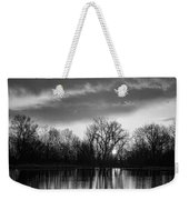 Black And White Sunrise Over Water Weekender Tote Bag by James BO  Insogna