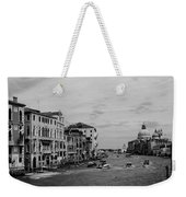 Black And White Venice 3 Weekender Tote Bag