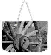 Black And White Wagon Wheel Weekender Tote Bag