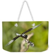 Black And White Widow Skimmer Dragonfly Weekender Tote Bag