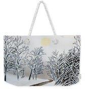 Black And White Woods Weekender Tote Bag