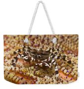 Black And White Zebra Crab On Fire Weekender Tote Bag
